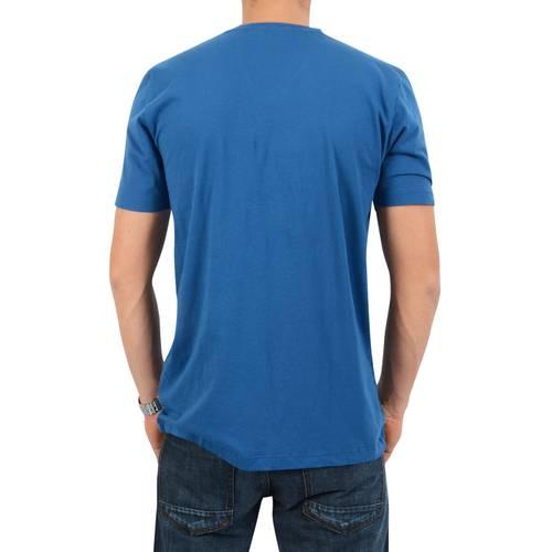 Camiseta Cuello V a Rayas Jack Supplies para Hombre - Azul