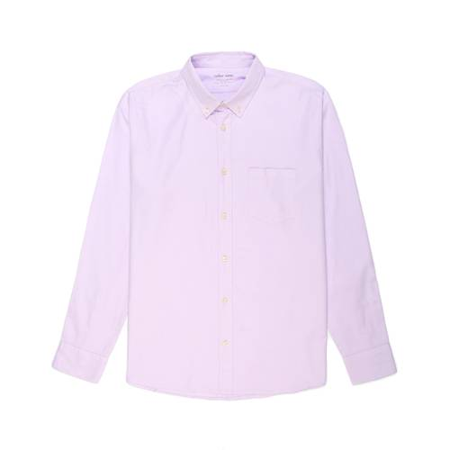 Camisa Oxford Manga Larga - Morado