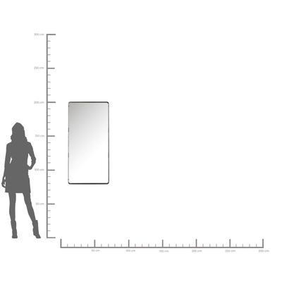 Espejo Ombra Soft negro 120x60cm