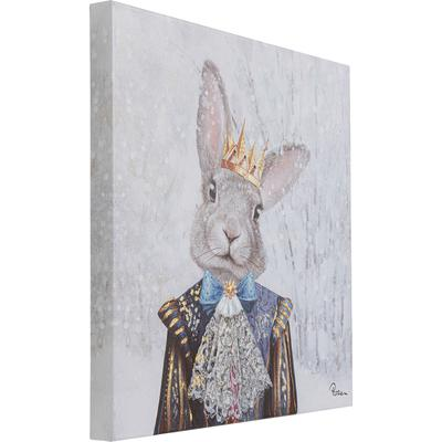 Cuadro King of Rabbit 50x50
