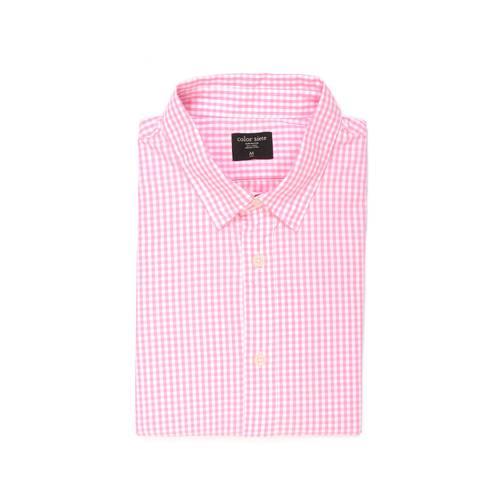 Camisa Manga Larga Color Siete Para Hombre  - Rosado