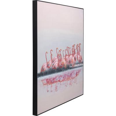 Cuadro lienzo Dating Flamingos 100x120cm