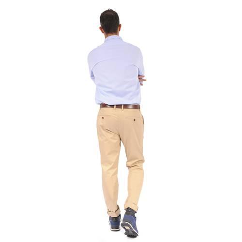 Camisa Manga Larga Jones Color Siete para Hombre- Azul