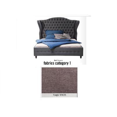 Cama City Spirit, tela 1 - Tiago  9905, (120x156x260cms), 200x200cm (no incluye colchón)