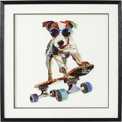 Cuadro Art Skater Dog 65x65cm