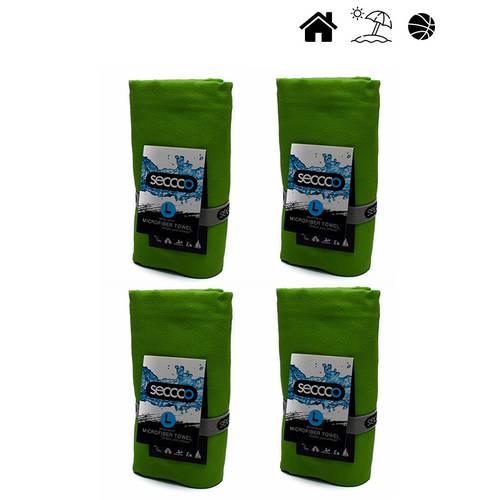 Set X 4 Toallas De Microfibra Marca Talla L Verde Llav - SECCCO