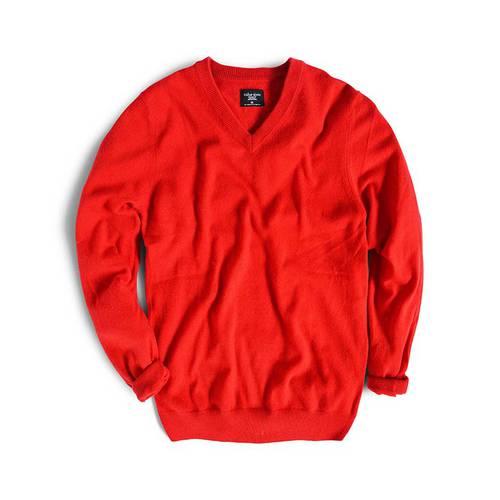 Sueter Color Siete para Hombre 100% Cashmere - Rojo