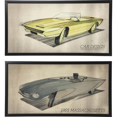 Cuadro Car Design 54x104 cm (varios)