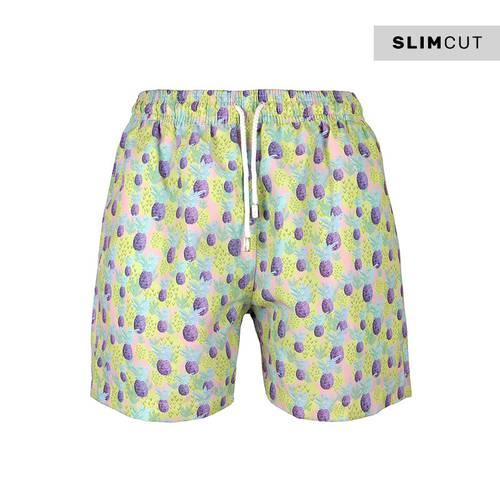 Pantaloneta Slim Cut Ananas7 -Cut - PALMACEA