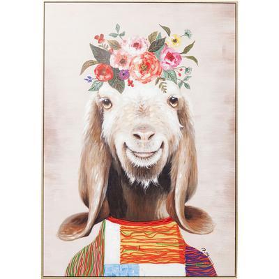 Cuadro Flowers Goat 102x72cm