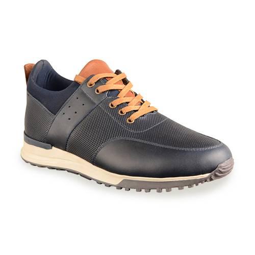 Zapato Casual Para Hombre Calzado Guerreros Jcr-020 Azul Azul