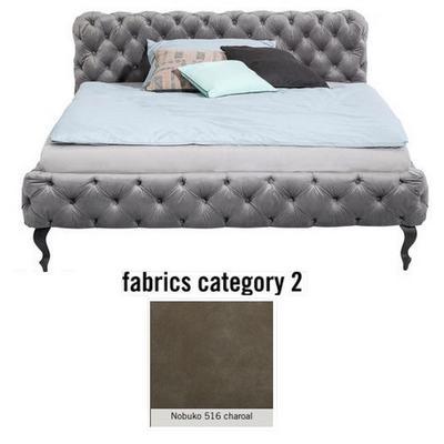 Cama Desire, tela 2 - Nobuko 516 charoal, (100x177x228cms), 160x200cm (no incluye colchón)