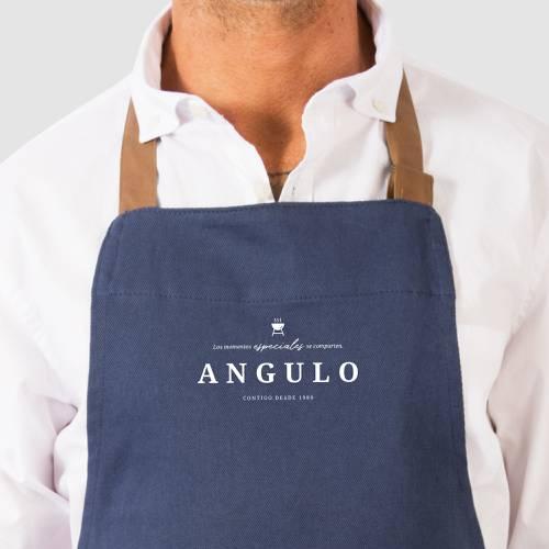 Delantal Color Siete Angulo - Azul