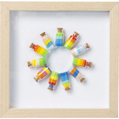 Cuadro Rainbow Jars Circle