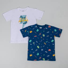 Camiseta manga corta paquete x 2 Little Boy