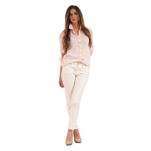Pantalón Color Siete Para Mujer  - Amarillo