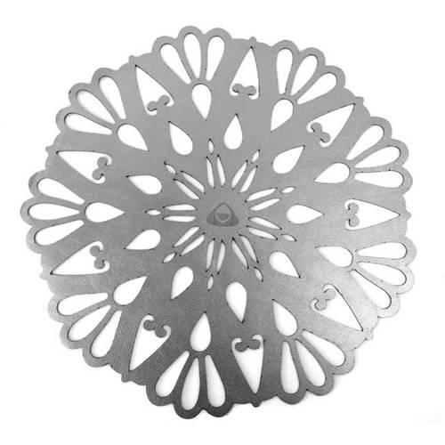Individual para Mesa, Doble Faz Plata Mod Flower 37cm