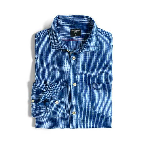 Camisa Color Siete para Hombre - Azul