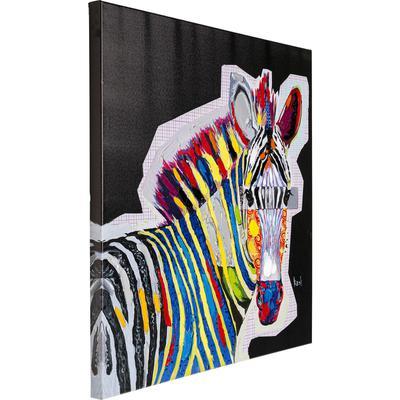 Cuadro Wildlife Zebra 80x80cm