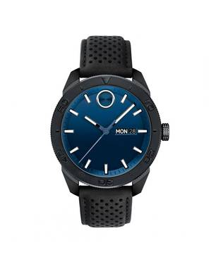 Reloj análogo azul-negro 0495