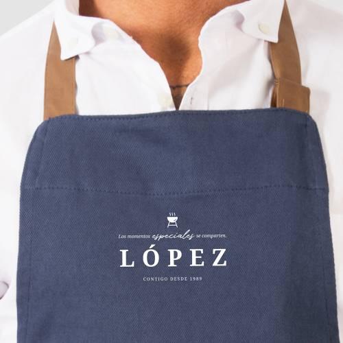 Delantal Color Siete López - Azul