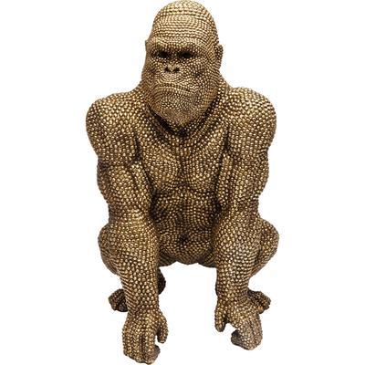 Figura decorativa Gorilla oro 80cm
