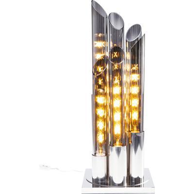 Lámpara mesa Pipe cromo 80cm