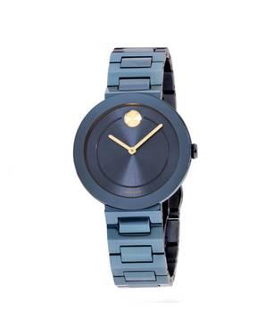 Reloj análogo azul 0499