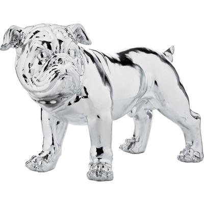 Figura decorativa Bulldog plata Smart 42cm