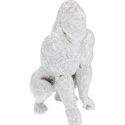 Figura decorativa Shiny Gorilla plata 80cm