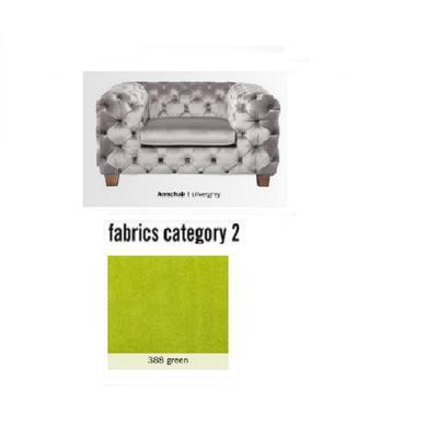 Poltrona My Desire, tela 2 - 388 green  (128x66x105cms)