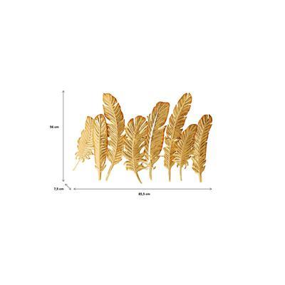 Perchero pared Leaf oro 86cm