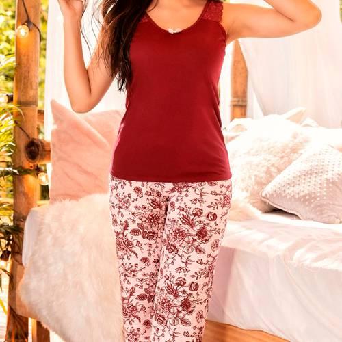 Pijama Vino Tinto - 11135