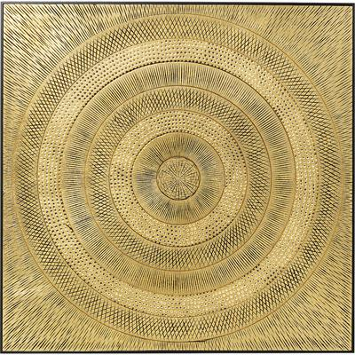 Cuadro (objetos) Art Circle oro 120x120cm