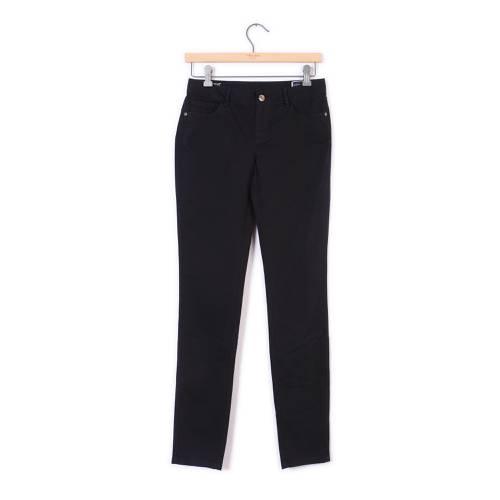 Pantalon Color Siete Para Mujer  - Negro