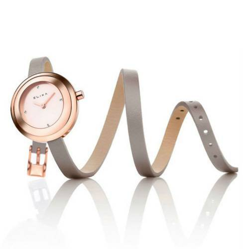 Reloj Finesse Café/Plateado 2-L356 - ELIXA