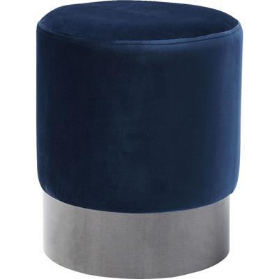 Taburete James azul negro  Ø35cm