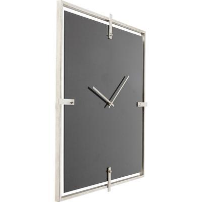 Reloj pared Mamba negro cromo
