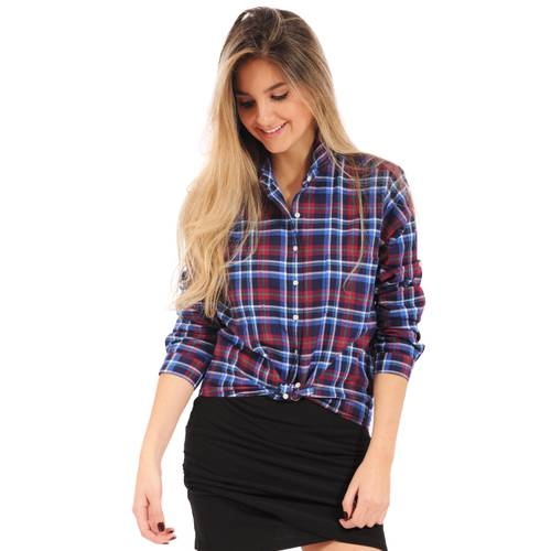 Blusa Liliana Rosé Pistol Para Mujer - Azul