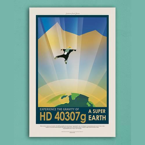 Cuadro 20 x 30 cm Nasa HD 40307g