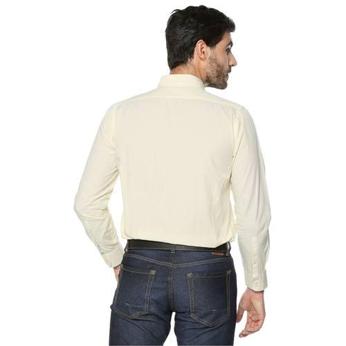 Camisa Manga Larga Color Siete Para Hombre - Amarillo