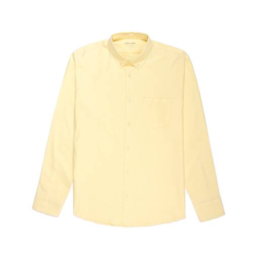 Camisa Oxford Manga Larga - Amarillo