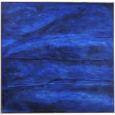 Cuadro Abstract Deep azul 155x155cm