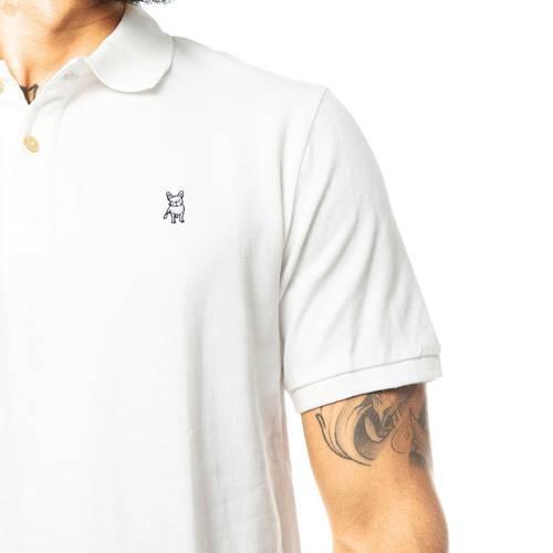Camiseta Tipo Polo Jack Supplies para Hombre - Blanco