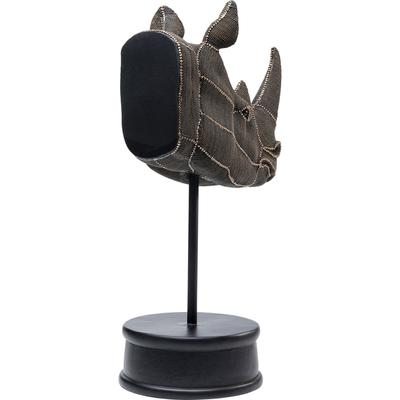 Objeto decorativo Rhino Head Rivets Pearls 69