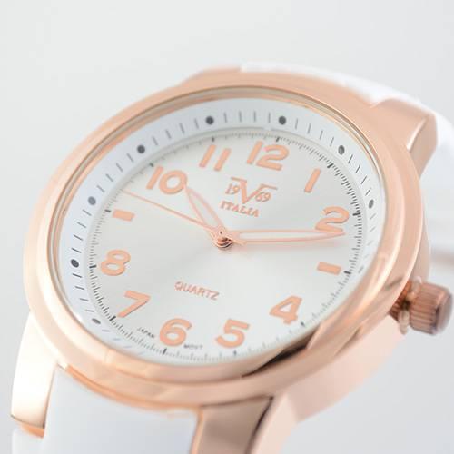 Reloj blanco-oro rosa 50-4