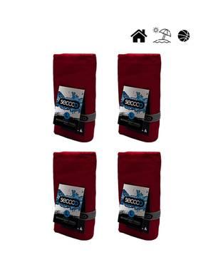 Set X 4 Toallas De Microfibra Marca Talla L Rojo Llar - SECCCO