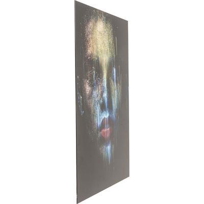 Cuadro cristal Face the World Front 120x80c