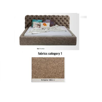 Cama Slumber, tela 1 - Kitana 9811,  (87x208x239cms), 160x200cm (no incluye colchón)