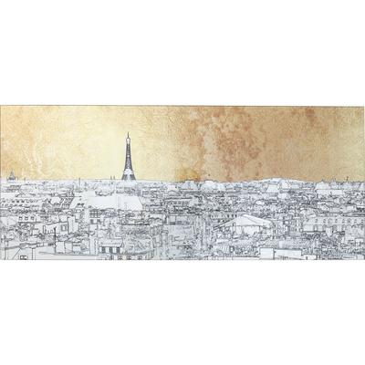 Cuadro cristal Metallic Paris View 50x120cm
